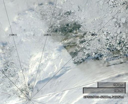 "NASA Worldview ""true-color"" image of the North Pole area on September 2nd 2013"