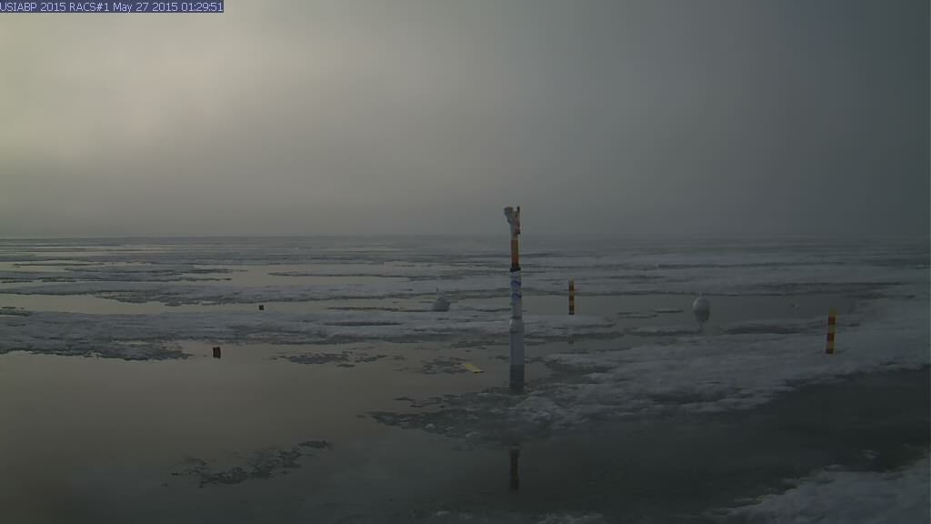 Ice Mass Balance Buoy 2015A webcam image on May 27th 2015.