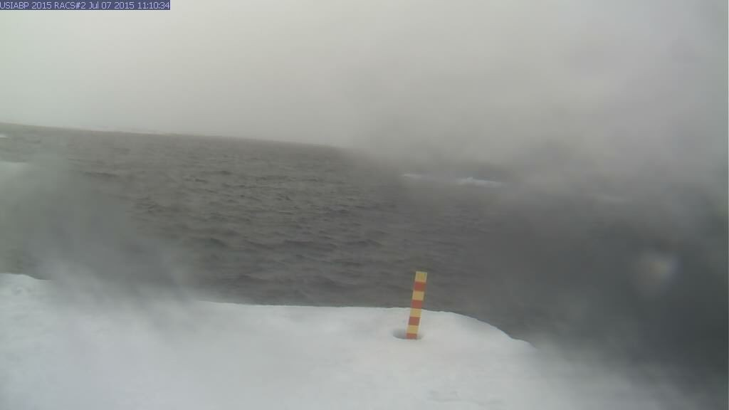Ice Mass Balance Buoy 2015B webcam image a bit later on July 7th 2015