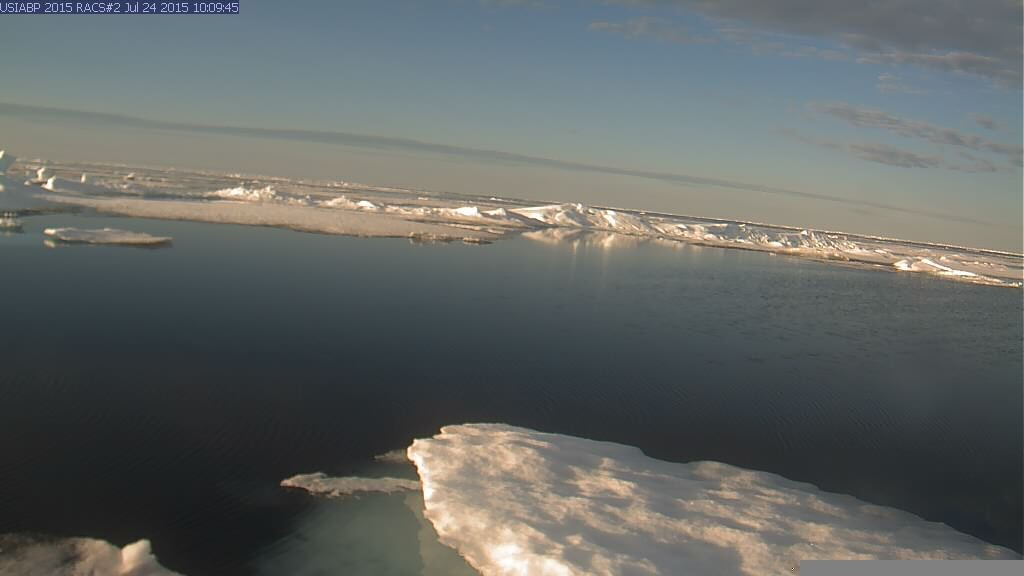 Ice Mass Balance Buoy 2015B webcam image on July 24th 2015.