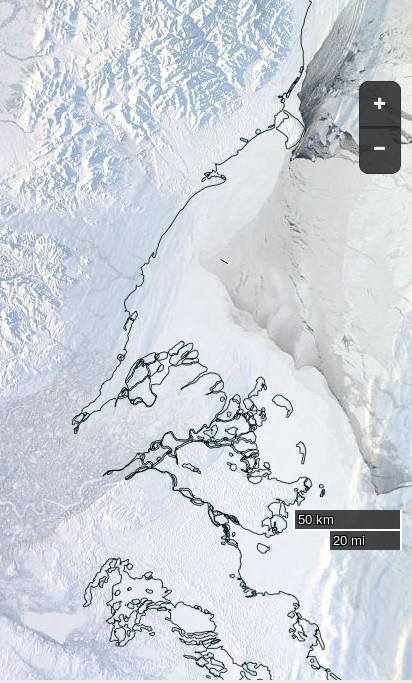 "NASA Worldview ""true-color"" image of the Beaufort Sea on February 4th 2016,"