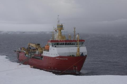 RRS Ernest Shackleton. Image from British Antarctic Survey