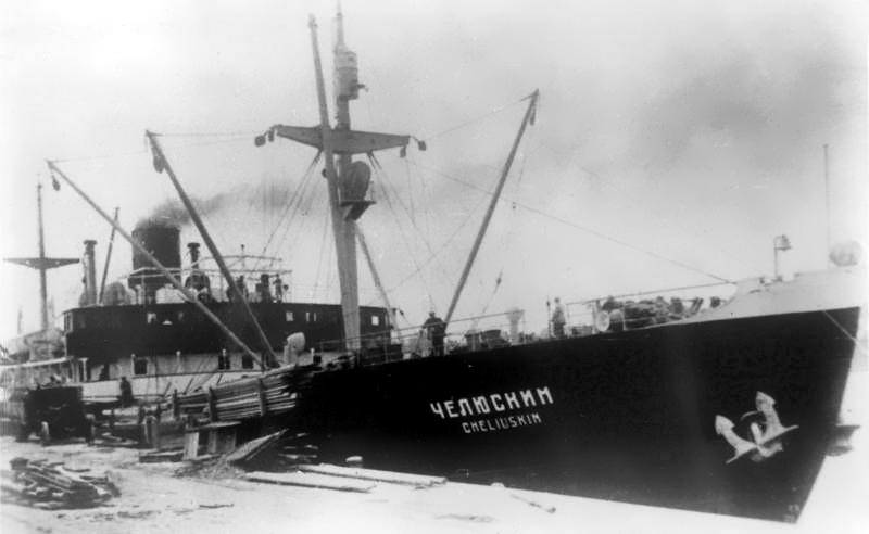 The icebreaker Chelyuskin