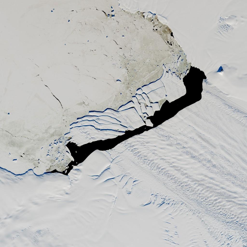 Pine Island Iceberg Under the Midnight Sun