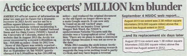 Scan of the bottom of page 31 in the September 29th 2013 edition of the Mail on Sunday