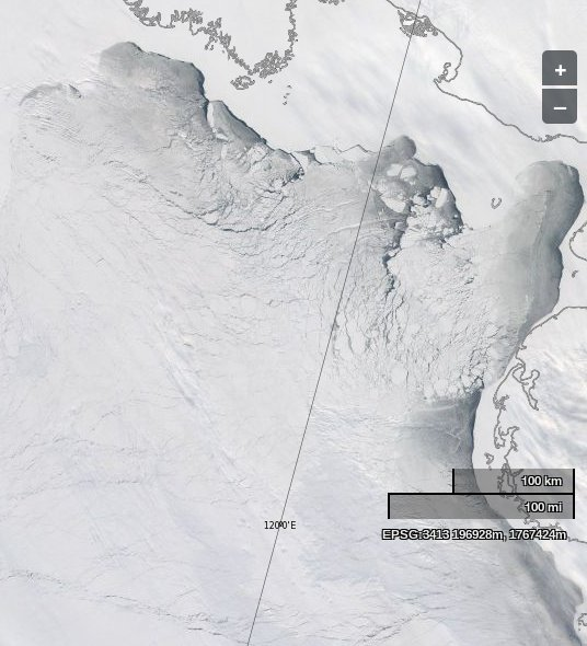 The Laptev Sea as seen by the Aqua satellite on April 8th 2014