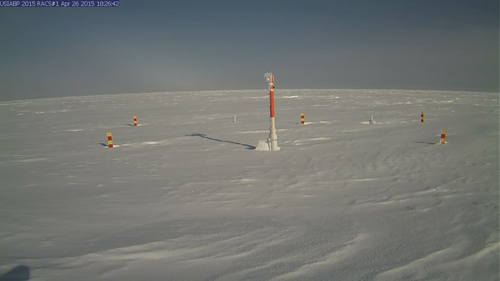 Ice Mass Balance Buoy 2015A webcam image on April 26th 2015
