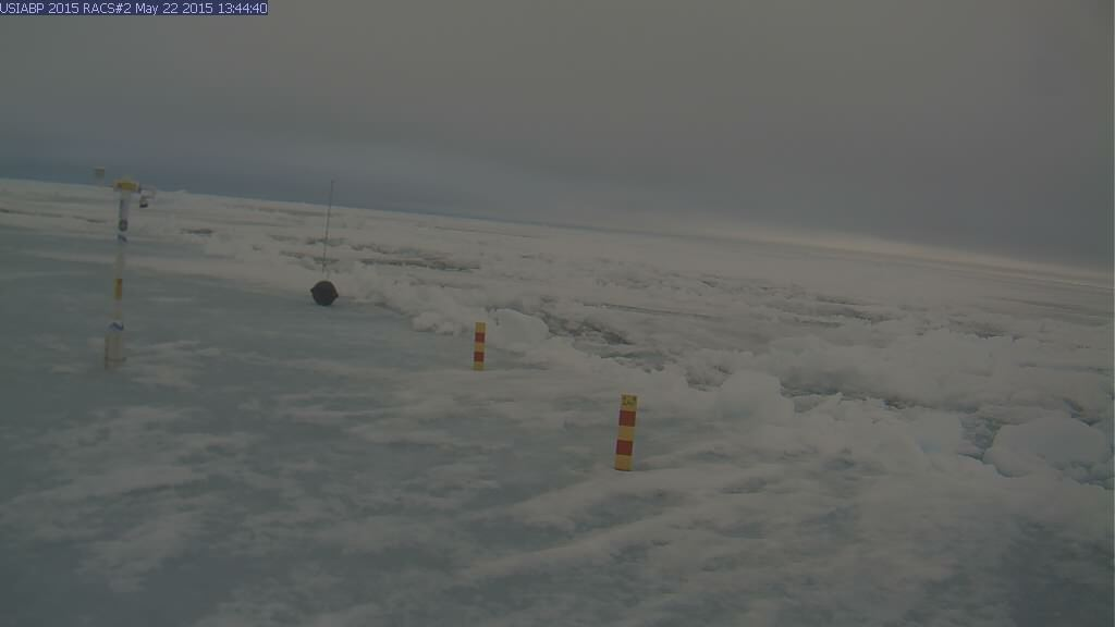 Ice Mass Balance Buoy 2015B webcam image on May 22nd 2015