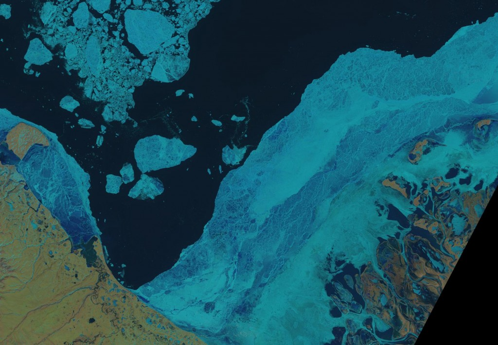 A Landsat 8 image of the Beaufort Sea on May 18th 2015