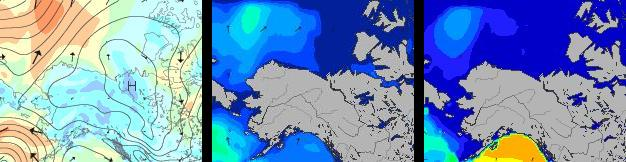 Beaufort Sea on September 7th 2014 - Wind / Swell / Period