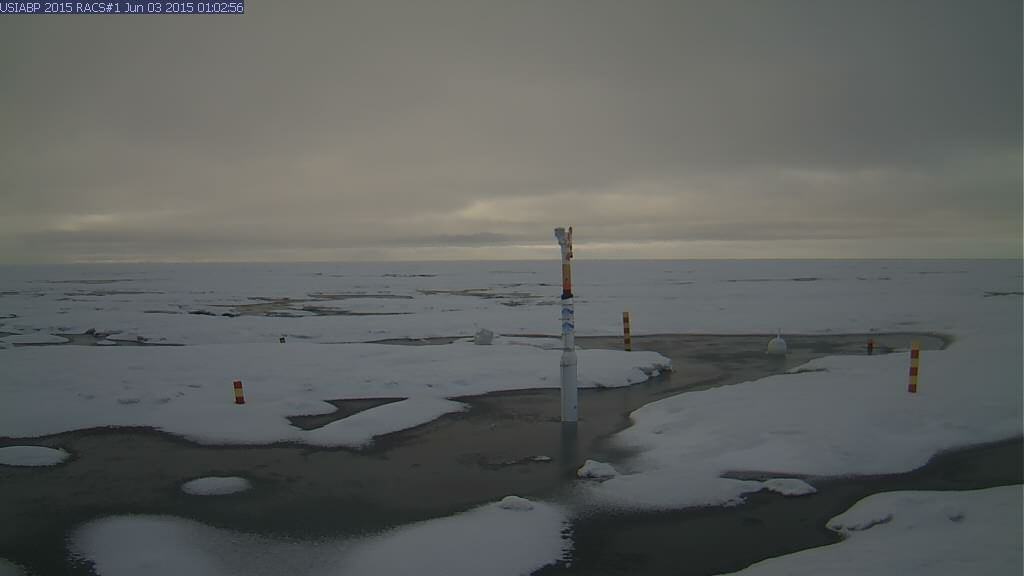 Ice Mass Balance Buoy 2015A webcam image on June 3rd 2015