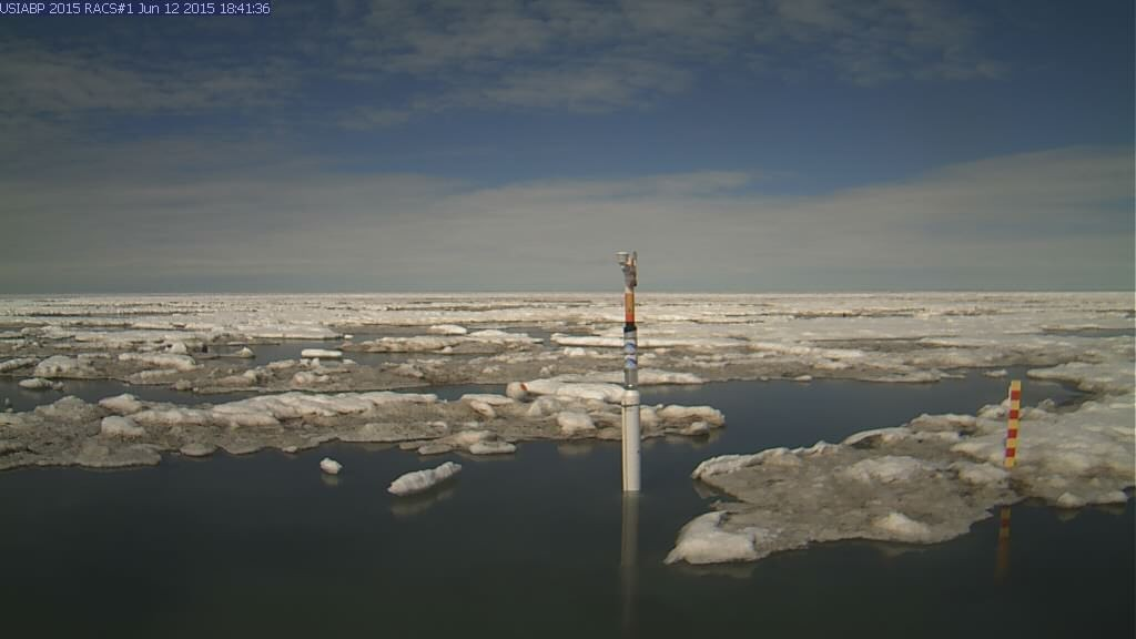 Ice Mass Balance Buoy 2015A webcam image on June 12th 2015
