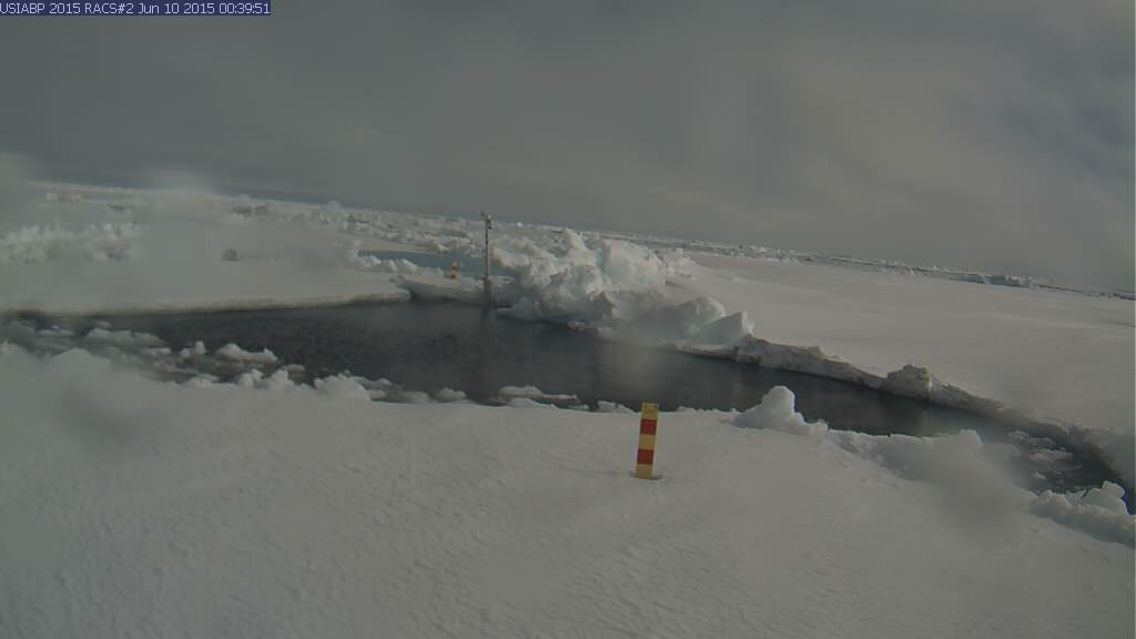 Ice Mass Balance Buoy 2015B webcam image on June 10th 2015.